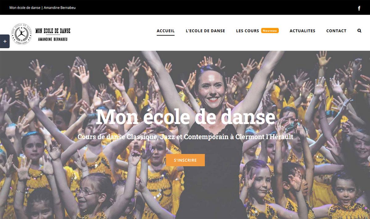 Mon école de danse, un site internet de réservation de séjours, créé par l'agence-i communication à Gignac Hérault