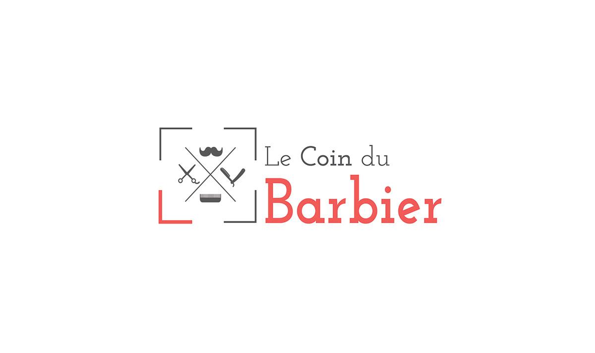 Coin du barbier, un logo créé par l'agence-i communication à Gignac