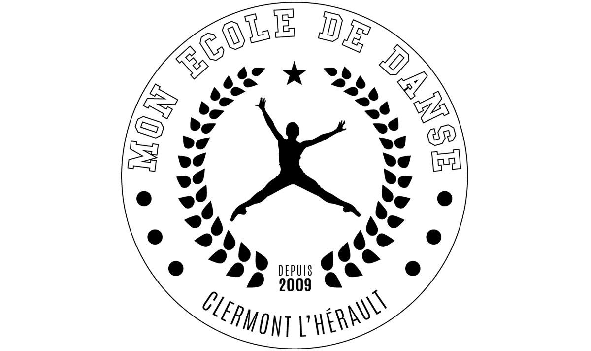 Mon école de danse, un logo créé par l'agence-i communication à Gignac Hérault