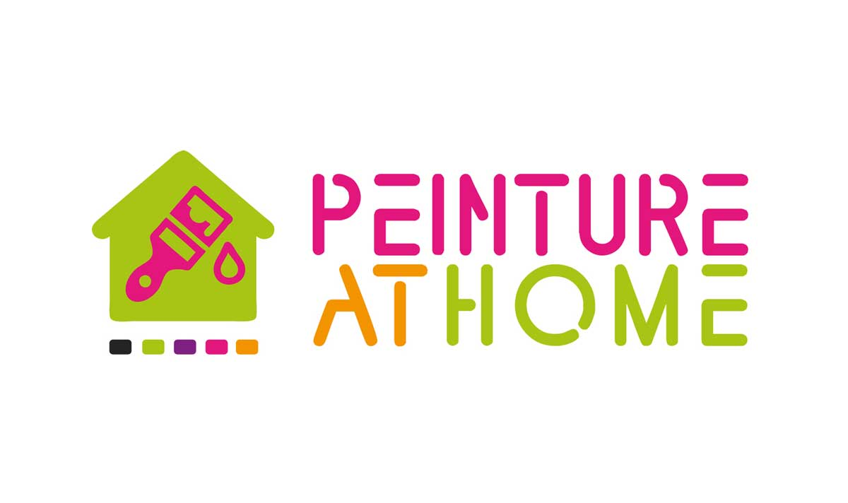Peinture at Home, un logo créé par l'agence-i communication Gignac Hérault