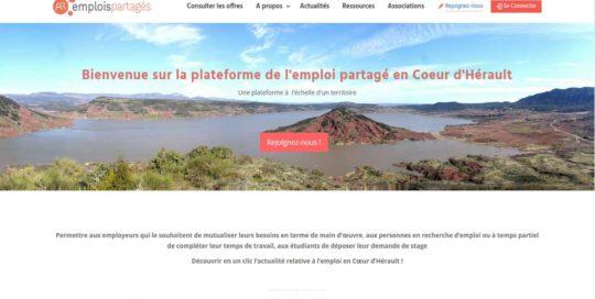 Emplois partagés en Coeur d'Hérault, un portail internet créé par l'agence-i communication à Gignac