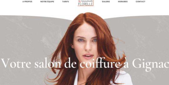 Coiffure by Florelle, un site créé par l'agence-i communication à Gignac