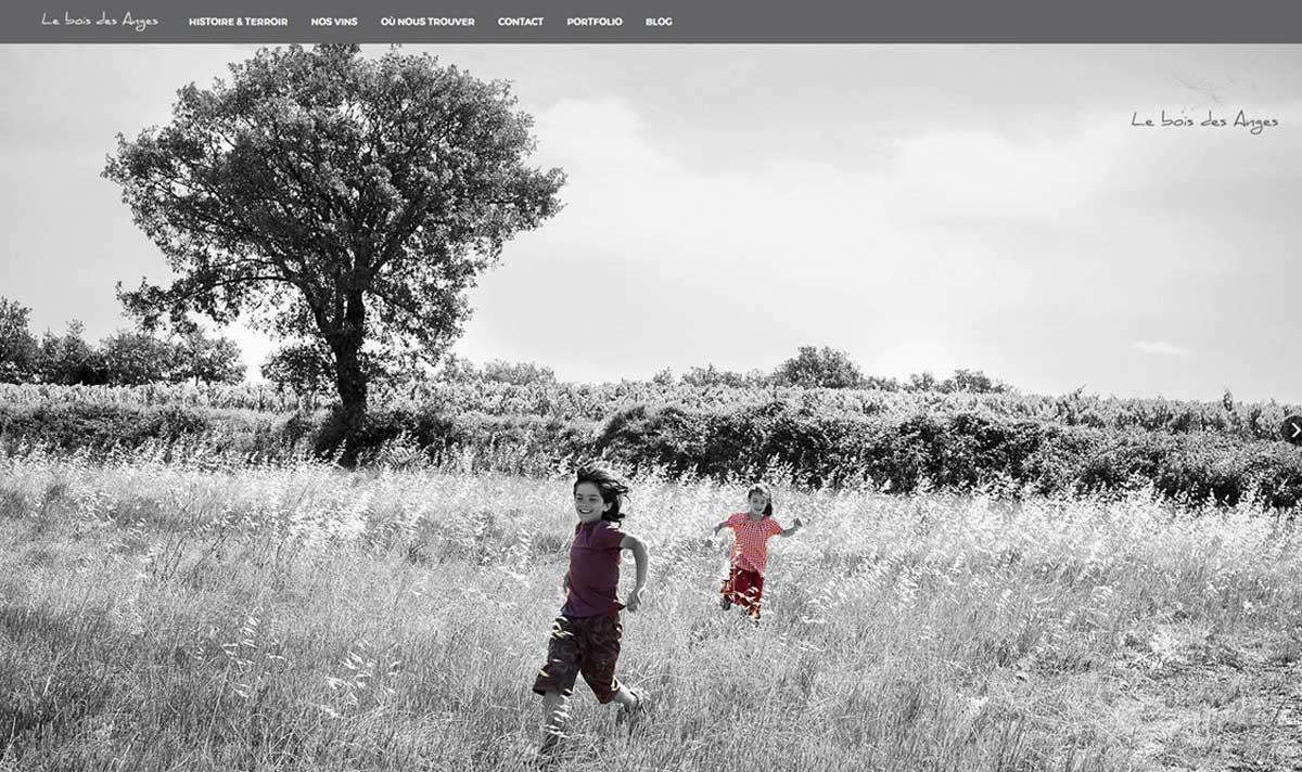 Le bois des anges, un site réalisé par l'agence-i à gignac