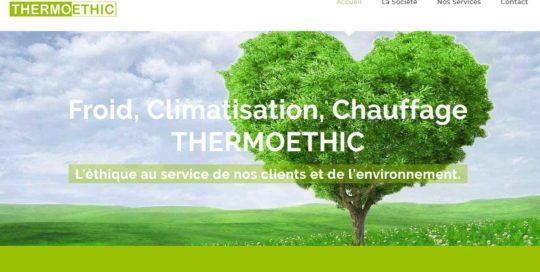 Thermoethic, un site internet créé par l'agence-i communication à Gignac Hérault
