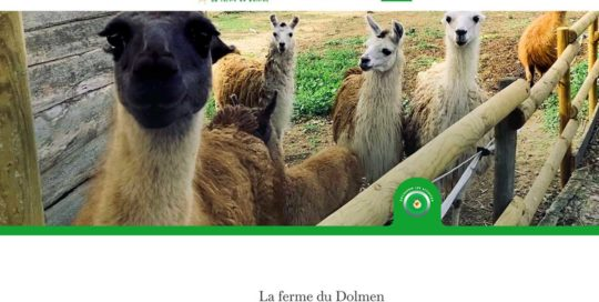 La ferme du Dolmen, un site internet réalisé par l'Agence-i à Gignac