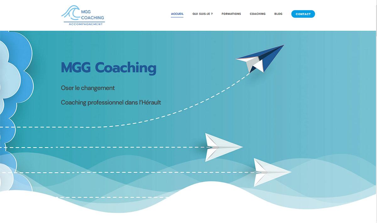 MGG Coaching, un site internet réalisé par l'Agence-i à Gignac dans l'Hérault